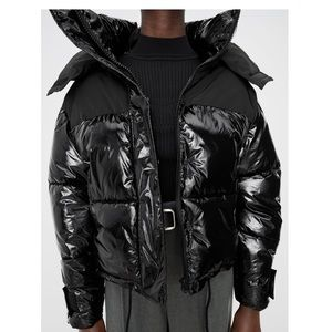 Combined black puffer jacket limited edition